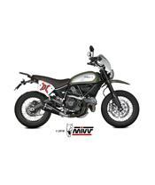 MIVV Delta Race Steel Black/Carbon End Cap Ducati Scrambler 800