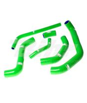 Kit tubos radiador Samco Kawasaki verde KAW-45-GN