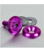 Arruela de alumínio escareada M6 violeta LWAC6-19P
