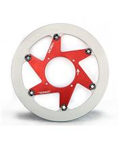 BERINGER H9LGRF Aeronal® Brake Disc Stainless Steel Round Floating Red