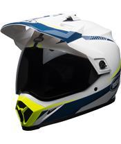 BELL MX-9 Adventure Mips Torch Helmet Gloss White/Blue/Yellow