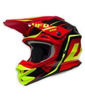 UFO Interceptor II Helmet Genix Black/Red/Neon Yellow