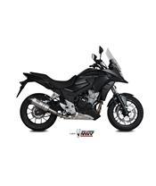 Silencieux MIVV Oval Titane casquette carbone Honda CB500X
