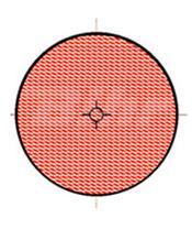 Catadióptrico vermelha redondo com autocolante