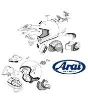 ARAI TD Duct 3 Front Set Pearl Black - casque integral