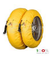 Aquecedores de pneus CAPIT Suprema Spina Cor amarela (17'' - Frente 120/Trás 180)