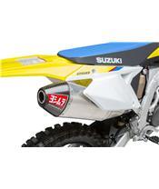 Linea completa escape Yoshimura Signature RS-4, acero inox, Silencioso de aluminio, Suzuki RM-Z250