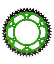 ART Dual-components Rear Sprockets 49 Teeth Ultra-light Self-cleaning Aluminum/Steel 520 Pitch Type 460 Green