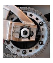 Tuerca de corona 10mm x 1,25 (6 pack) Aluminio negro Pro-Bolt SPN10BK