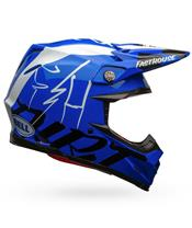 Casco Bell MOTO-9 FLEX FASTHOUSE DID 2020 Azul/Blanco/Negro, Talla XL