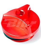 Tapón de llenado de aceite Pro-Bolt Yamaha Aluminio rojo OFCY10R