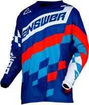 Camiseta Answer ARKON KORZA Azul Réflex/Azul Flúor/Rojo, Talla XL