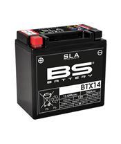 Batterie BS BATTERY BTX14 SLA sans entretien activée usine