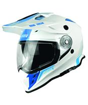 Casque JUST1 J34 Adventure Shape Blue Neon Gloss