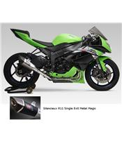 Yoshimura R11 Single Exit stainless full system Metal Magic Magic muffler for Kawasaki ZX6R
