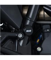 R&G RACING Frame Plug Kit Black Ducati Desert Sled