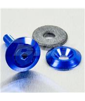 Arruela de alumínio escareada M6 azul LWAC6-22B