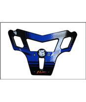 Para-choques AXP, polietileno PEAD, azul, Yamaha YFZ450R