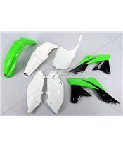 UFO Plastic Kit OEM Color (2016) Green/Black/White Kawasaki KX250F
