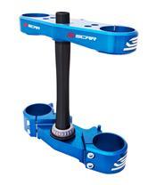 SCAR triple clamp 25mm offset blue Yamaha YZ65/85