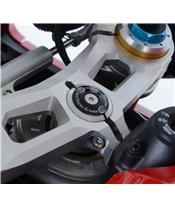 R&G RACING Black Stem Nut Top Yoke Ducati Panigale V4