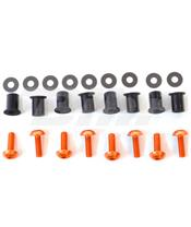 Kit parafusaria viseira alumínio Pro-Bolt laranja SK10O
