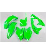 Kit plástica completo UFO Kawasaki verde fluor KAKIT225-AFLU