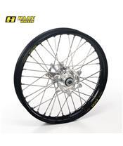 HAAN WHEELS Complete Rear Wheel 18x4,25x36T Black Rim/Silver Hub/Silver Spokes/Silver Spoke Nuts