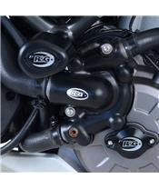 Couvre-carter gauche R&G RACING Black Ducati Multistrada 1260