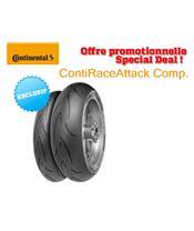 Train de pneus Racing CONTINENTAL ContiRaceAttack Comp. (120/70 ZR 17 Soft + 180/60 ZR 17 Soft)