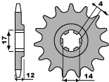 PBR Front Sprocket 13 Teeth Steel Standard 428 Pitch Type 2223 Aprilia RS4 125