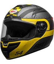 BELL SRT Helm Devil May Care Matte Gray/Yellow/Red Größe
