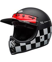 BELL Moto-3 Helm Fasthouse Checkers Matte/Gloss Black/White/Red Größe