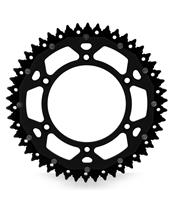 ART Dual-components Rear Sprockets 50 Teeth Ultra-light Self-cleaning Aluminum/Steel 520 Pitch Type 822 Black