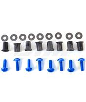 Kit tornilleria de cúpula (8 piezas) Aluminio azul Pro-Bolt SK8B