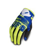 UFO Draft Gloves Neon Yellow/Blue Size XL