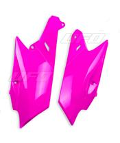 Plaques latérales UFO rose fluo Yamaha YZ-F