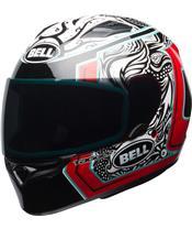 BELL Qualifier Helmet Gloss Tagger White/Black/Red Splice