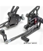 Commandes reculées LSL noir Suzuki GSX-S1000/1000F