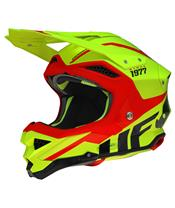 Casque UFO Diamond jaune fluo/rouge