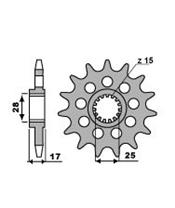 PBR Front Sprocket 14 Teeth Steel Racing 520 Pitch Type 2250 Ducati 899 Panigale