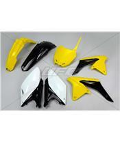 UFO Plastic Kit OEM Color Yellow/Black/White Suzuki RM-Z250