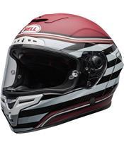 BELL Race Star Flex DLX Helmet RSD The Zone Matte/Gloss White/Candy Red