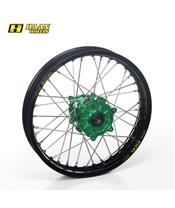 HAAN WHEELS Complete Rear Wheel 18x1,85x36T Black Rim/Green Hub/Silver Spokes/Silver Spoke Nuts