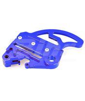 Protector de disco trasero ART con soporte de pinza azul