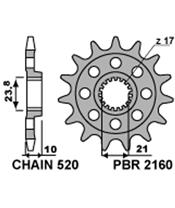 PBR Front Sprocket 13 Teeth Steel Standard 520 Pitch Type 2160 Suzuki RMZ450