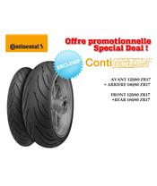 2 Sport-Touring Tire Pack CONTINENTAL ContiMotion (120/60 ZR 17 + 160/60 ZR 17)