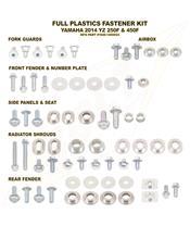 Complete set of Bolt plastic screws for Yamaha YZ250/450-F
