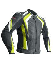 RST R-18 Jacket CE Leather Flo Yellow