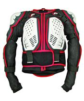Polisport white/black/red Integral body armou
